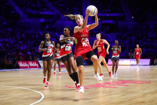 Picture by Alex Whitehead/SWpix.com - 17/07/2019 - Netball - Vitality Netball World Cup 2019 - Trinidad & Tobago v England - M&S Bank Arena, Liverpool, England - Natalie Haythornthwaite of England. | SWpix.com