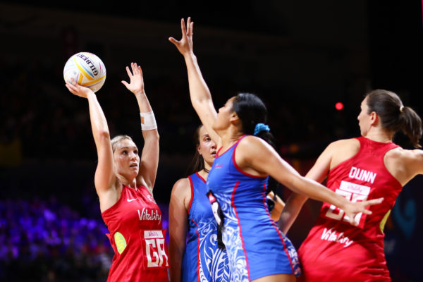 Picture by Alex Whitehead/SWpix.com - 14/07/2019 - Netball - Vitality Netball World Cup 2019 - England v Samoa - M&S Bank Arena, Liverpool, England - Natalie Haythornthwaite of England. | SWpix.com