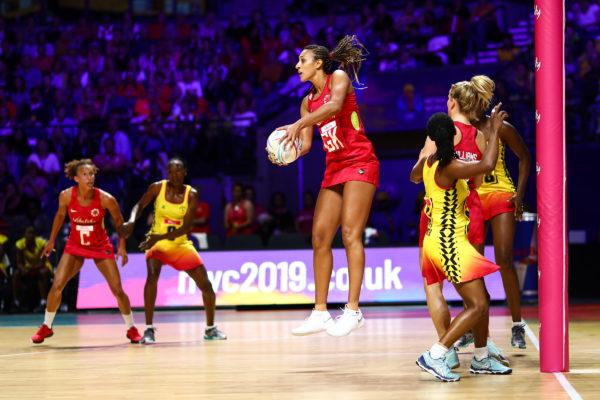 Picture by Alex Whitehead/SWpix.com - 12/07/2019 - Netball - Vitality Netball World Cup - England v Uganda - M&S Bank Arena, Liverpool, England - Geva Mentor of England. | SWpix.com