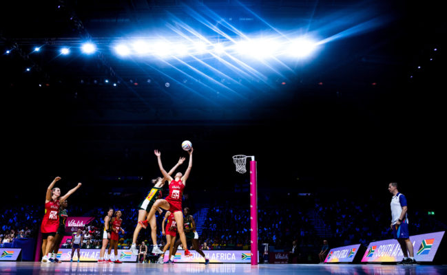 Picture by Alex Whitehead/SWpix.com - 21/07/2019 - Netball - Vitality Netball World Cup 2019, Bronze Medal Match - England v South Africa - M&S Bank Arena, Liverpool, England - Joanne Harten of England. | SWpix.com