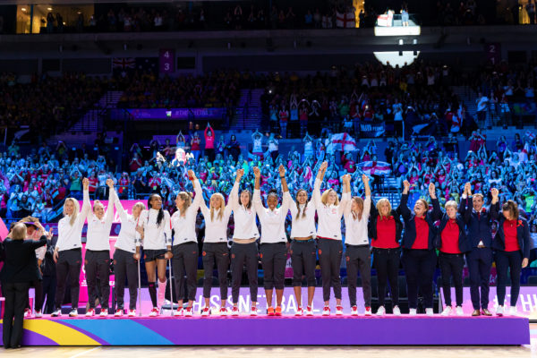 Picture by Alex Whitehead/SWpix.com - 21/07/2019 - Netball - Vitality Netball World Cup 2019, Bronze Medal Match - England v South Africa - M&S Bank Arena, Liverpool, England - England win Bronze.