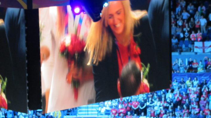 Tracey Neville on the big screen