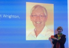 Janet Wrighton, MBE,  receives International Federation Service Award (2019)