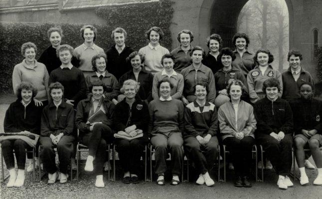 Back Row left to right:  ???, ???, Olwyn Pritchard, Margaret Gay, ???, ???, ???. Middle Row:  ???, ???, ???, Joyce Haines, Sue Winterbottom, Jean Robinson, Doreen Gedcott. Front Row:  ???, ???, Barbara Leake, Nancy Barnett, ? Butcher, ???, ??? ???