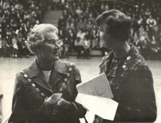 Rose Harris (left) President with Jean Robinson