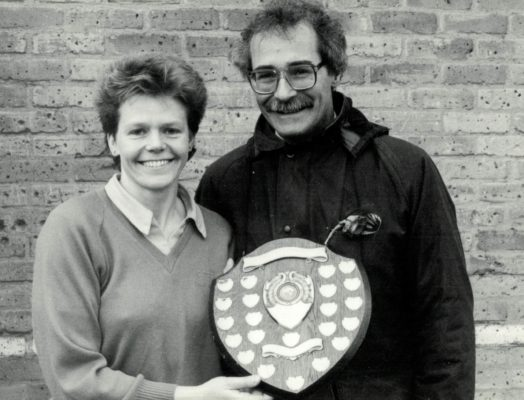 Herts Senior winners Captain Maggie Collins and Brian Worrell