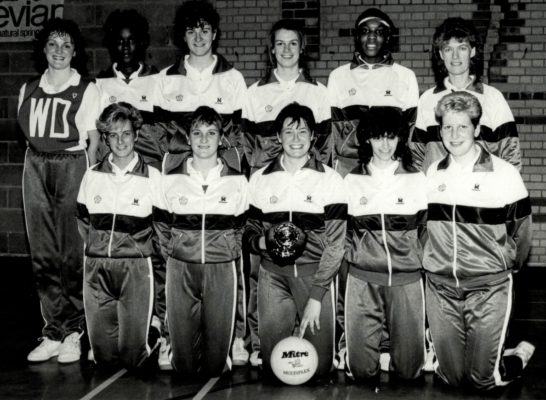 England U21 Squad:  Gerry Cornwell Coach back row right and Lucia Sdao front middle and Karen Fenlon front right