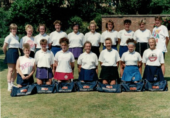 This Summer School at the Vaux School, Luton was tutored by Colette Thomson back left, and Kendra Lowe, back right.