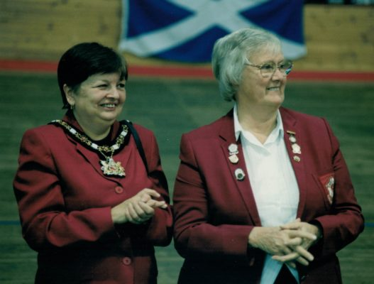 Jean Bourne, England President with Mayoress of Manchester