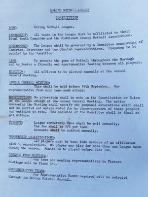 Ealing League Constitution