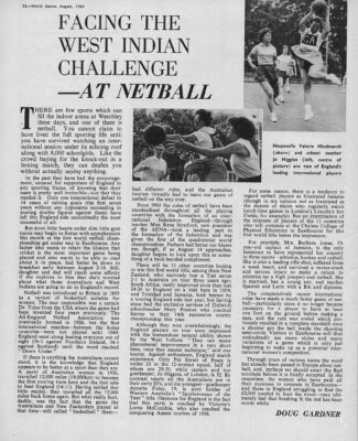 1963 1st World Tournament article from World Sports 1963