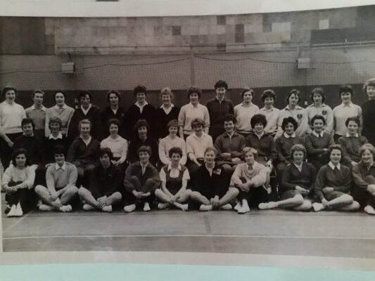 Annette Cairncross on the back row (middle) but who are any of the others?