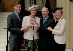 2012 Maggie Jackson receives an MBE for Services to Netball