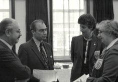 1982 circa, Presentation to Nat West for sponsorship