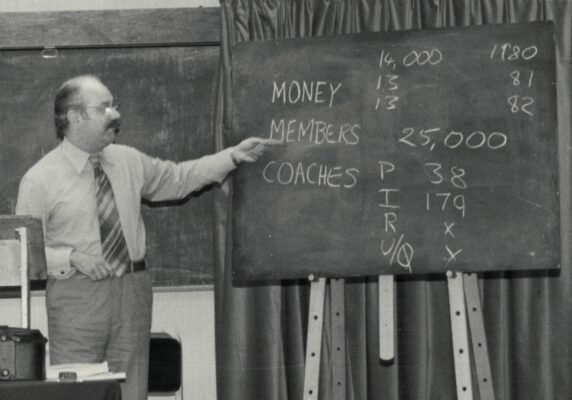 Monty Prouton explaining the numbers.