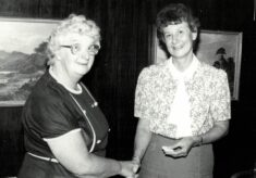 1986 Annette Cairncross presented with Honorary Life Membership