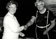 1986 Joyce Haines presented with Honorary Life Membership