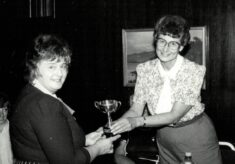 1986 Maureen Ball awarded the Muriel McNally Trophy
