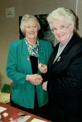 At the same time, Pat Taylor awarded Jean Bourne Honorary Life Membership.