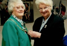 1994 Jean Bourne receives Life Membership and the Presidency