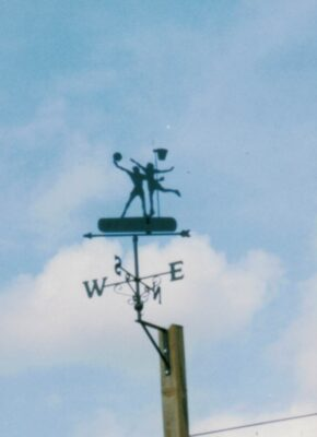 The weather vane playing Netball, what else?