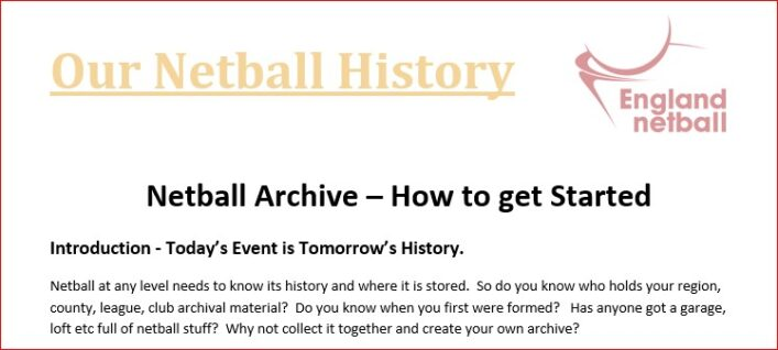 Netball Archive - How to get started