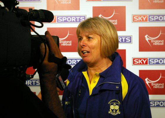 Joan Crabtree being interviewed.