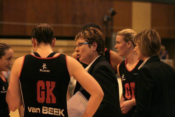 Denise Egan coaching with Anita Navin, GK Van Beck | Mark Pritchard Photography