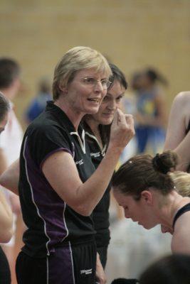 Mavericks coach Maggie Jackson and Fiona Murtagh with Karen Atkinson | Mark Pritchard Photography
