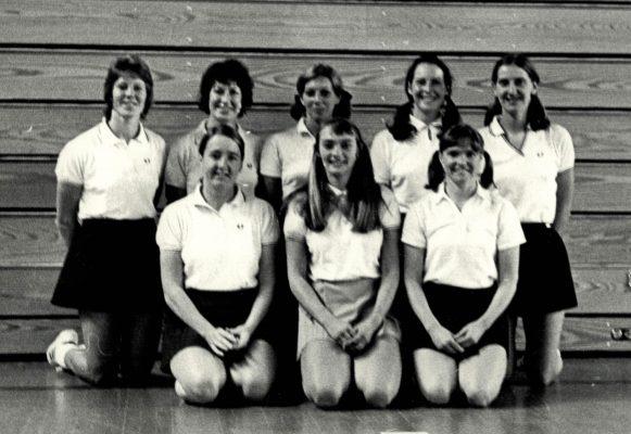 Back row: left to right:  ???, Kim ???, Pat Watson, Helen Crowest, Les Darby.  Front row:  ???, Karen Kubachewski, Rita Rees