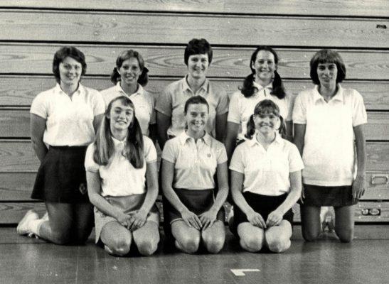 Back row left to right:  Carol Bretherton, Pat Watson, Chris Maylor, Helen Crowest, Iona le Corre.  Front row:  Karen Kubachewski, Sandie Hillson, Rita Rees