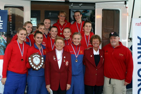 Oldham, Winners of the Alex Barlass Trophy.  In the front row is Phyllis Avery, President, Barbara Bishop and Mike Greenwood. | Mark Pritchard Photography