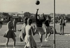 1961 Nora Ashworth playing in South Africa, June