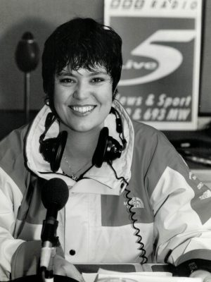 Sandy Warr sports commentator for BBC Five Live awarded the Rose Harris award for services to Netball
