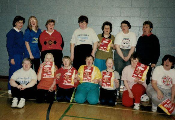 Workshop run by lead coach Jean Perkins far left