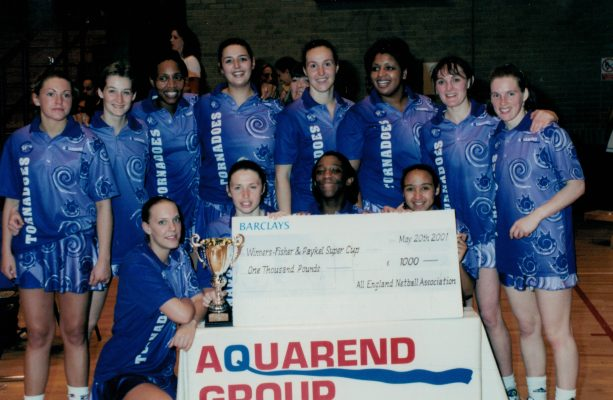 Winners Petchey London Tornadoes with their winning cheque.