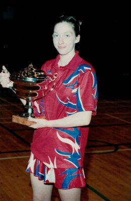 Olivia Murphy, Birmingham, with the Player of the Tournament Trophy