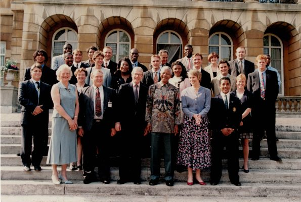 Fiona Murtagh, back row, third from the right, attended John Major's Raising the Game Downing Street Luncheon in the summer of 1997