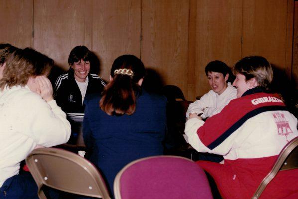 Pauline Harrison taking a Coaching Clinic in Gateshead.