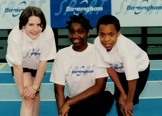 Ama Agbeze (centre) with Katie Jones and Sefunmi Olatunbosun at Colness Farm School, Birmingham